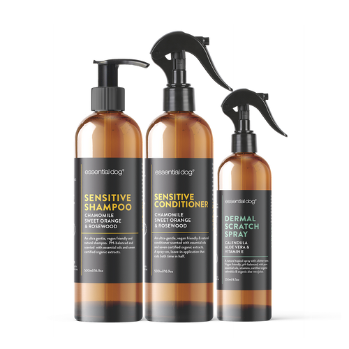 Natural Dog Shampoo, Conditioner and Itch Relief for Sensitive Itchy Skin