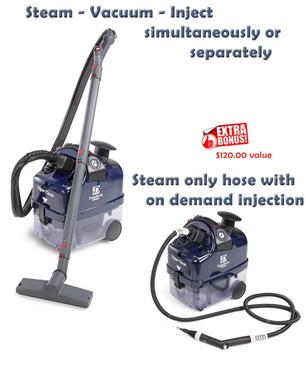 Two hoses complete the Desiderio package. The Steam only hose features an on/off steam switch and injection button