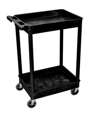 The 2 tub cart offers the option of transporting your steam cleaner and accessories on the level of choice for optimal use. The locking wheels are a great added feature of this cart.