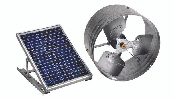 Green Machine Gable Solar Vent (500 CFM) Master Flow PGSOLAR (CLICK TO VIEW DETAILS)  (CALL FOR FREE EXPERT ADVICE)