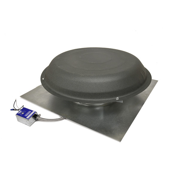Roof Mount Attic Fan Shingle Matched Weatheredwood ERV6SMWW (1600 CFM) Master Flow (CLICK TO VIEW DETAILS)  (CALL FOR FREE EXPERT ADVICE)