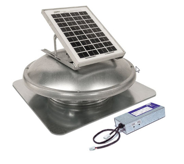 Green Machine Attic Roof Electric/Solar Hybrid (500 & 900 CFM) Master Flow ERVHYBRID (CLICK TO VIEW DETAILS)  (CALL FOR FREE EXPERT ADVICE)