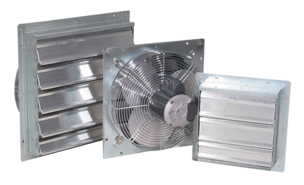 "A6 - J&D ES SHUTTER FANS | Sizes 10"", 12"", 16"", 20"", 24"" &  30"" Single Phase 115/230v Variable Speed & 3-Phase 208/230/460v 