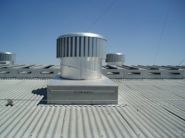 A7 - EDMONDS ecoPOWER HYBRID TURBINE ROOFTOP VENTILATORS SIZES:  EP400 (1412 CFM - 68 Watts) SHOWN, EP600 (2500 CFM- 116 Watts, & EP900 (5885 CFM- 260 Watts) (CLICK TO VIEW DETAILS)  (CALL FOR FREE EXPERT ADVICE AND PRICING)