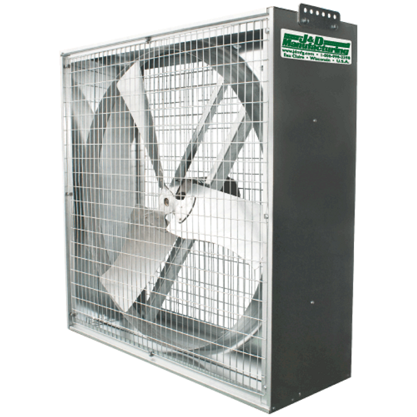 "A8 - J&D WHIRL-WIND BOX FAN - Sizes 24"", 36"" &  50""  5,000-22,100 CFM,  115/230v & 208/230/460v,  VG503G6 (CLICK TO VIEW DETAILS)  (CALL FOR FREE EXPERT ADVICE & PRICING)"