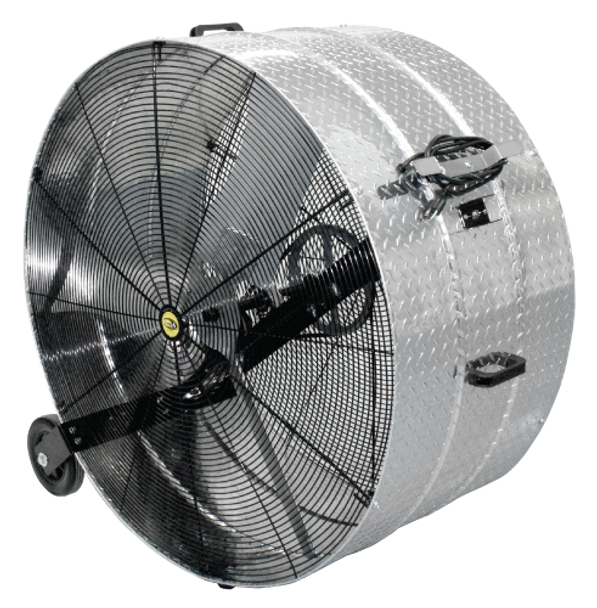 "A91 - J&D DIAMOND BRITE™ PORTABLE DRUM FAN  | Sizes 20"", 24"", 30"", 36"", 42"" &  48"",  4,760-23,500 CFM,  115v, 