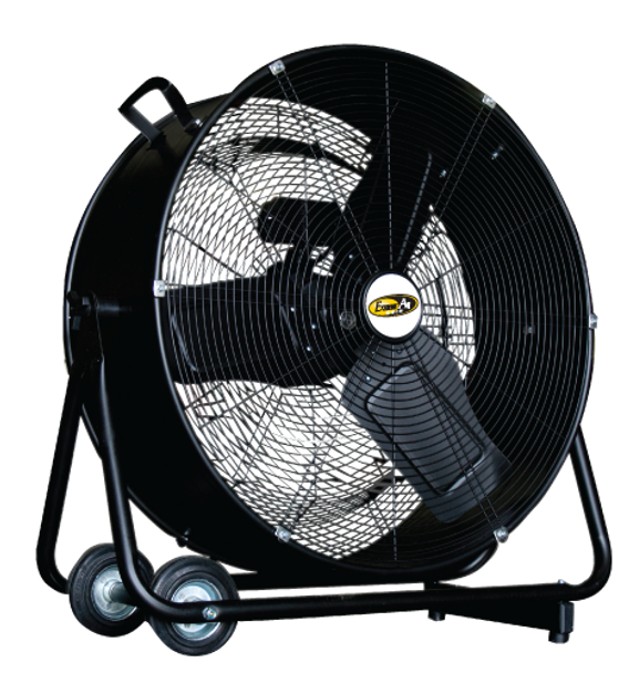 """J&D PORTABLE DRUM FAN 24"""" - Direct Drive  5,500/7,200 CFM   PDF24 (CLICK TO VIEW DETAILS)  (CALL FOR FREE EXPERT ADVICE & PRICING)"""