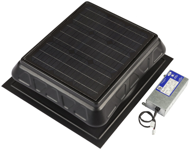 Green Machine High-Power Solar Roof Vent - Dual-Powered Model 750 & 900 CFM | PRHYBRID2-2  (CLICK TO VIEW DETAILS)  (CALL FOR FREE EXPERT ADVICE)
