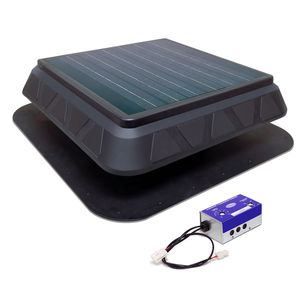 GREEN MACHINE HIGH-POWER SOLAR ROOF VENT |  750CFM | PRSOLAR2  (CLICK TO VIEW DETAILS)  (CALL FOR FREE EXPERT ADVICE)