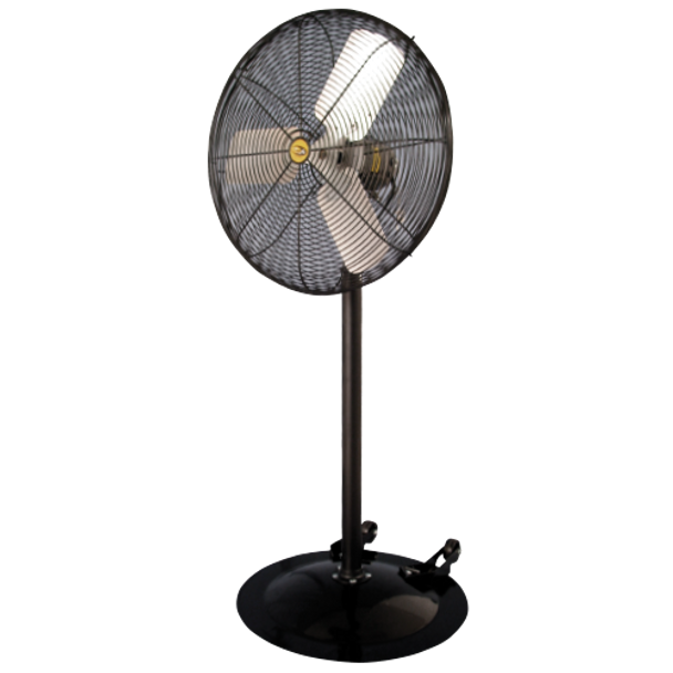"A9  - HEAVY DUTY INDUSTRIAL PEDESTAL FAN |  Sizes 20"", 24"" & 30"",  115v  3-Speed,  3,100-9,800 CFM 