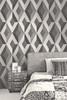 Grace & Gardenia GYS60605 Quadrates Black and Gray Wallpaper