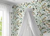 York Wallcoverings TC2653Tropical Love Birds Wallpaper,White / Green / Yellow/ Red Prepasted Surestrip 27 In wide x 27 ft long 60.8 Sq Ft Designer Quality