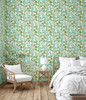 GW5041 Watercolor Leaves Peel and Stick Wallpaper Roll 20.5 inch Wide x 18 ft. Long, Green/White/Brown