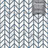 GW0092 Marble Herringbone Peel and Stick Wallpaper Roll 20.5 inch Wide x 18 ft. Long, Blue/Gold