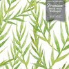 GW2131 Tropical Leaves Peel and Stick Wallpaper Roll 20.5 inch Wide x 18 ft. Long, Green