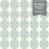 GW0101 Diamond Pattern on Fabric Texture Peel and Stick Wallpaper Roll 20.5 inch Wide x 18 ft. Long, Blue/Tan