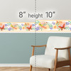 GB50081 Floral Butterfly Watercolor Peel and Stick Wallpaper Border 10in Height x 18ft Peach/Green/Orange
