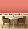 GB80021 Coffee Items Peel and Stick Wallpaper Border 10in Height x 18ft Yellow/Orange/Burgundy