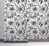 GW5132 Grace & Gardenia Watercolor Floral on Paper Peel and Stick Wallpaper Roll 20.5 inch Wide x 18 ft. Long, Gray