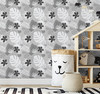 GW2182 Grace & Gardenia Black and White Tropical Foliage Peel and Stick Wallpaper Roll 20.5 inch Wide x 18 ft. Long, Black Gray