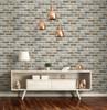 SV5450 Tan Brick Wallpaper Peel & Stick Tan / Gray / Light Brown