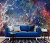 GM0100 Grace & Gardenia Deep Space Stars Premium Peel and Stick Mural 13ft. wide x 10ft. height, Blue White Yellow Orange