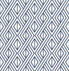 NextWall NW30106 Diamond Geometric  Navy Blue Peel & Stick Wallpaper