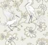 York Wallcoverings FB1448 Florence Broadhurst Egrets Wallpaper Beige