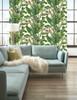 York Wallcoverings AT7068 Tropics Banana Leaf Wallpaper, Green - Ultra Removable