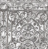 Grace & Gardenia G05C8002 Gray Painted Iron Garden Gate Wallpaper