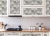 Grace & Gardenia Black and White Mosaic Tile Peel and Stick Wallpaper