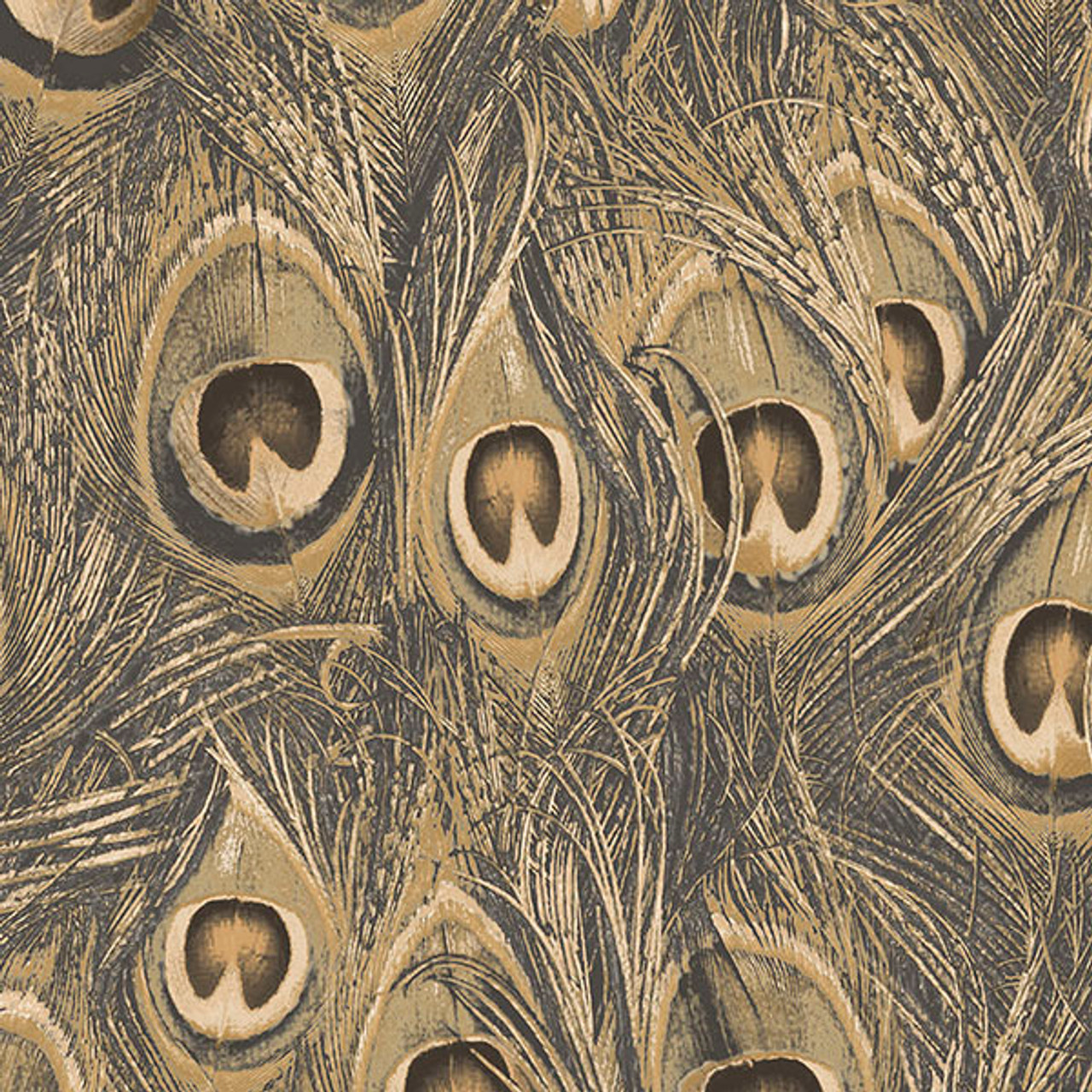 Norwall Manor House Mh36521 Peacock Wallpaper Metallic Gold Ochre The Savvy Decorator