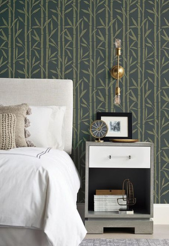 ​Leaves wallpapers from York Wallcoverings Antonina Vella Elegant Earth Collection