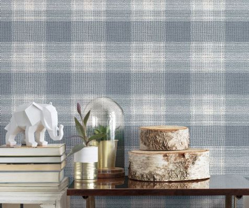 NEW! SIMPLY FARMHOUSE collection by York Wallcoverings.  Woven Buffalo Check Wallpapers