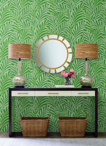 Ronald Redding Designs Handcrafted Naturals collection by York Wallcoverings. Tea Leaves Stripe Wallpapers