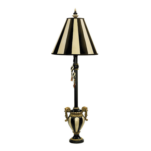 Dimond lighting by Elk 91-234 Carnival Stripe Table Lamp in Black And White