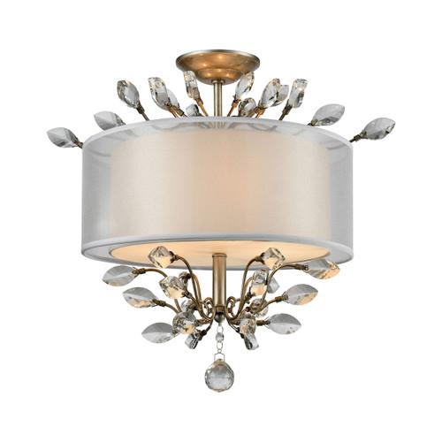 Asbury 3 Light Semi Flush In Aged Silver by Elk 16281/3