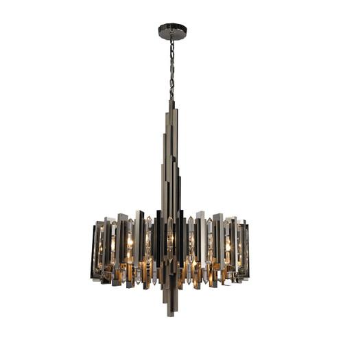 Dimond lighting 1140-016 Industrialist 8 Light Chandelier In Polished Nickel