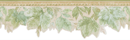Kitchen, Bath and Bed Resource IV by Brewster 414B06914 Acanthus Green Leaves Border
