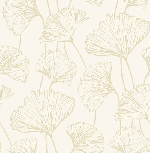 A-Street Prints by Brewster 2764-24316 Mistral Reverie Gold Ginkgo Wallpaper