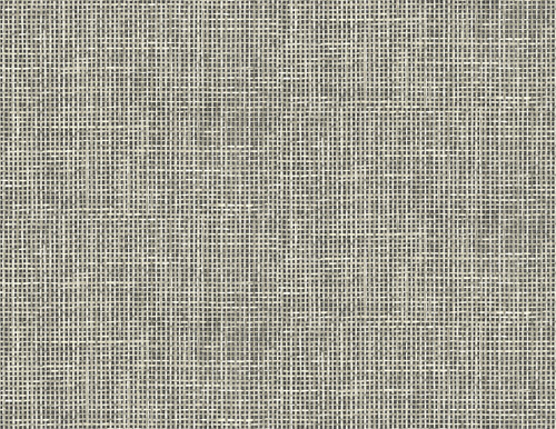 Kenneth James by Brewster PS41300 Palm Springs Woven Summer Charcoal Grid Wallpaper