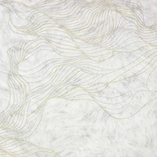 Brewster 2871-88715 Selvaggia Abruzzo Off-White Wolf Wave Wallpaper