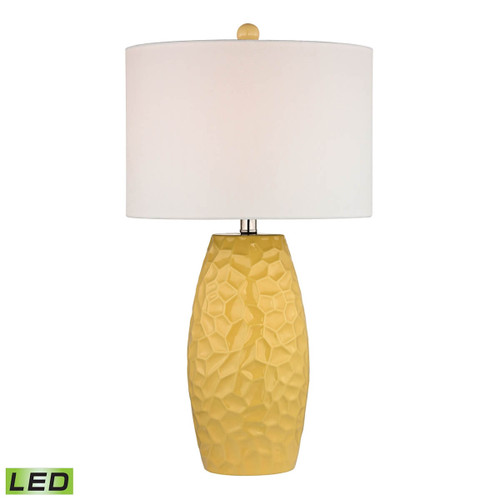 Dimond lighting by Elk D2500-LED Sunshine Yellow Ceramic Table Lamp With White