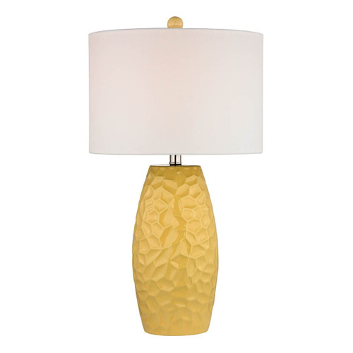 Dimond lighting by Elk D2500 Sunshine Yellow Ceramic Table Lamp With White