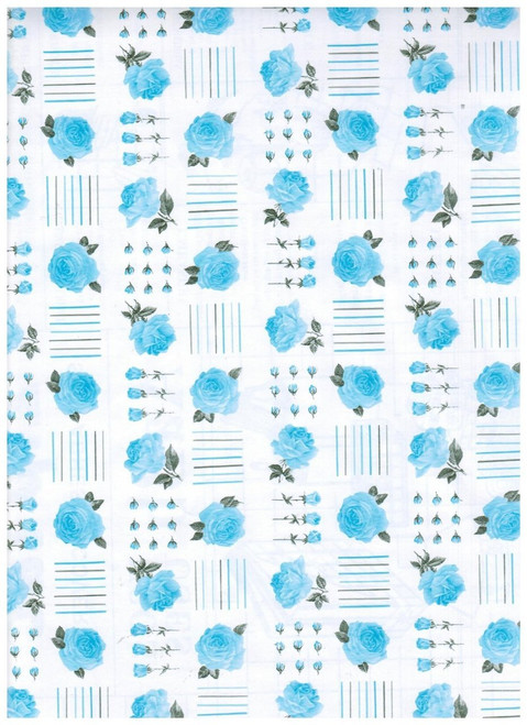 Interior Place 224 Roses Contact Paper, Blue