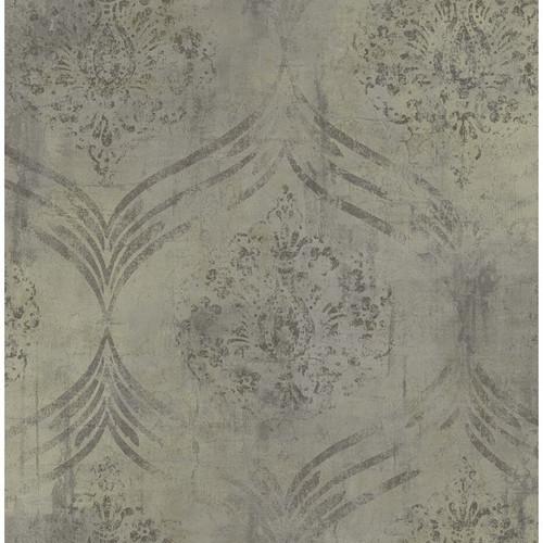 Seabrook Wallpaper in Gray, Neutrals MK21206