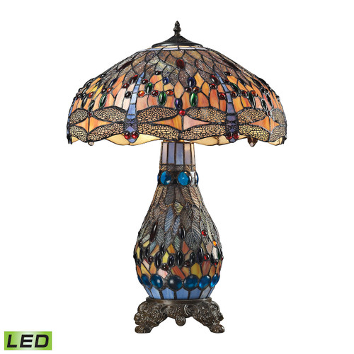 Dimond lighting 72079-3-LED Dragonfly 3 Light LED Table Lamp In Dark Bronze Dark Bronze
