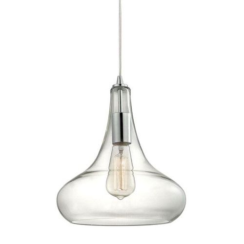 Orbital 1 Light Pendant In Polished Chrome And Clear Glass ELK 10422/1