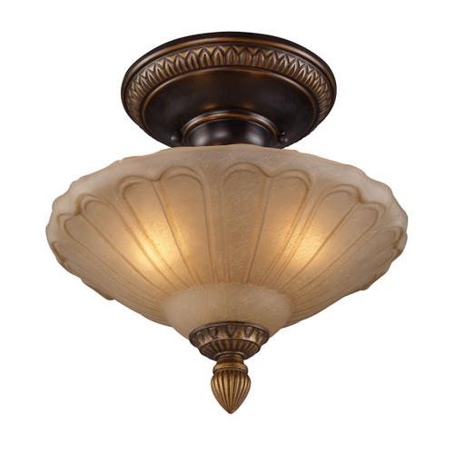 Restoration Flushes 3 Light Semi Flush  ELK 08092-AGB Golden Bronze