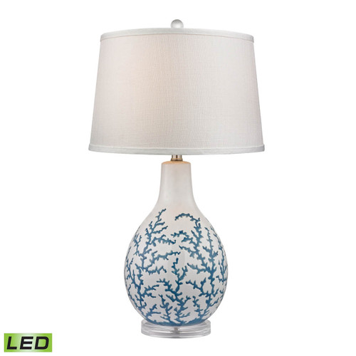Dimond lighting by Elk D2478-LED Sixpenny Blue Coral LED Table Lamp  White